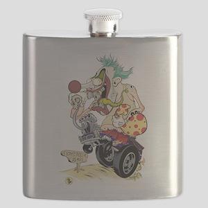 Killer Clown of Creepsville Flask
