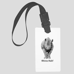 Rhinos Rule! Large Luggage Tag