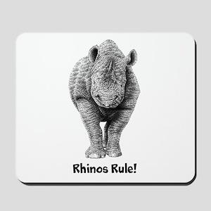 Rhinos Rule! Mousepad