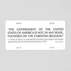 Skeptics18 Aluminum License Plate