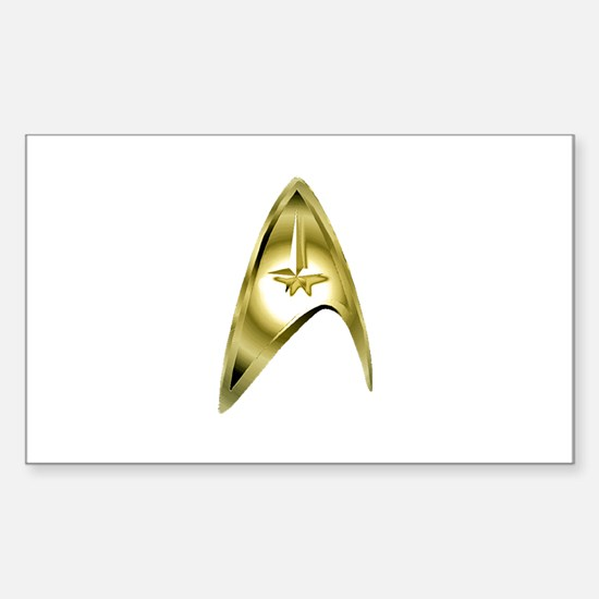 Gold Insignia Sticker (Rectangle)