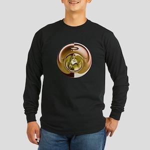 Star Trek Graphic Design Long Sleeve Dark T-Shirt