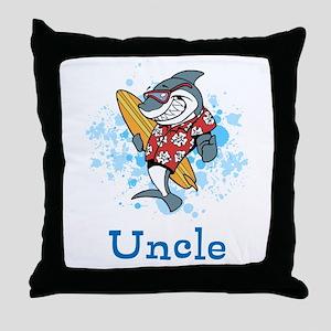 Uncle Cartoon. Custom Text. Throw Pillow