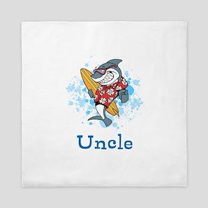 Uncle Cartoon. Custom Text. Queen Duvet