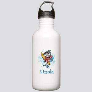 Uncle Cartoon. Custom Text. Stainless Water Bottle