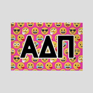Alpha Delta Pi Emoji Letters Pink Rectangle Magnet