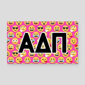Alpha Delta Pi Emoji Letters Rectangle Car Magnet