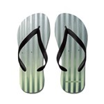 Tin Industrial Chic Metallic Flip Flops