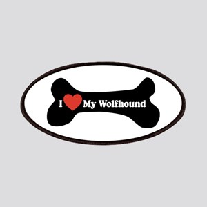 I Love My Wolfhound - Dog Bone Patches