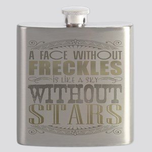 A Face Without Freckles (Typography) Flask