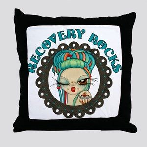 Recovery Rocks~2000x2000 Throw Pillow