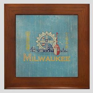 Vintage Milwaukee Flag Framed Tile