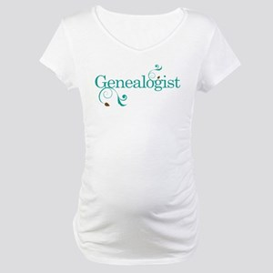 Genealogist Gift Maternity T-Shirt
