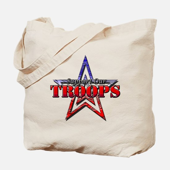 Unique Support our troops Tote Bag