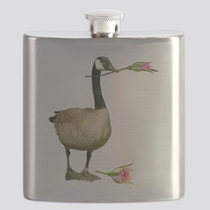 canada goose with rose L Flask