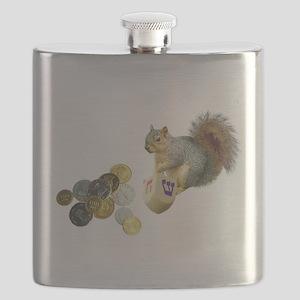 squirrel with dreidel copy Flask
