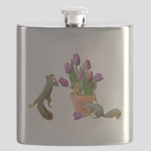 tulips squirrelsMDL copy Flask