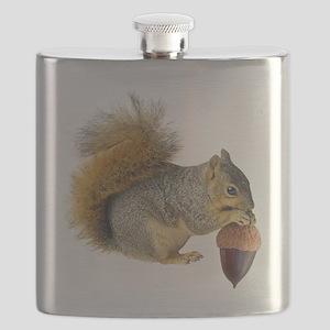 Squirrel Eating Acorn Flask