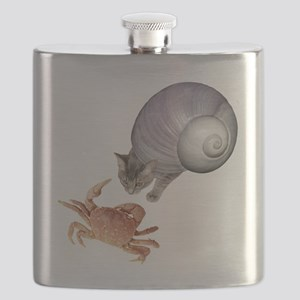 Shell Cat Crab Flask