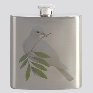 Dove Olive Branch Flask