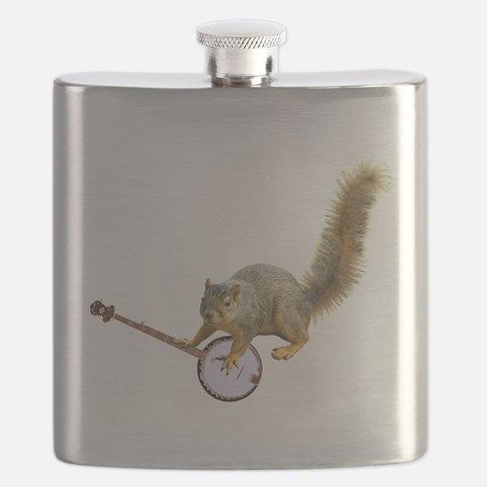 squirrel with banjo L.jpg Flask