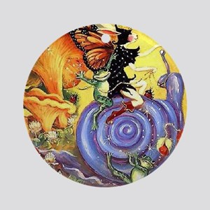Butterfly Fairy Ornament (Round)