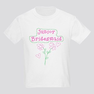 Flowers Junior Bridesmaid Kids T-Shirt