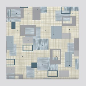 Makanahele Mid Century Modern Tile Coaster