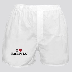 I Love Bolivia Boxer Shorts