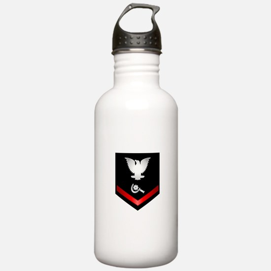 Navy PO3 Machinery Repairman Water Bottle