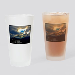 Jeremiah 4:24 Drinking Glass