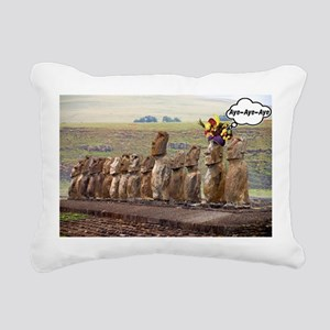 EasterIslandFruitMeme Rectangular Canvas Pillow