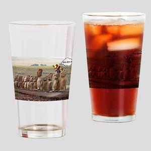 EasterIslandFruitMeme Drinking Glass