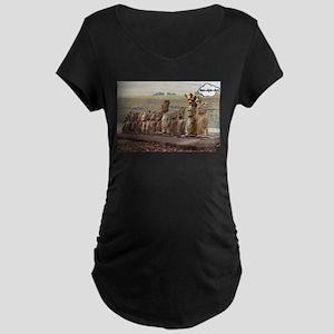 EasterIslandFruitMeme Maternity T-Shirt