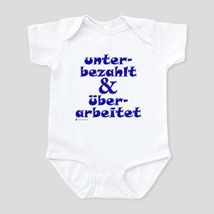 Unterbezahlt, blue Infant Creeper