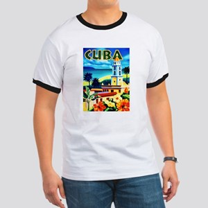 Cuba Travel Poster 6 Ringer T