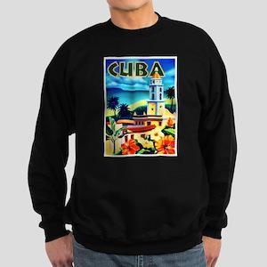 Cuba Travel Poster 6 Sweatshirt (dark)