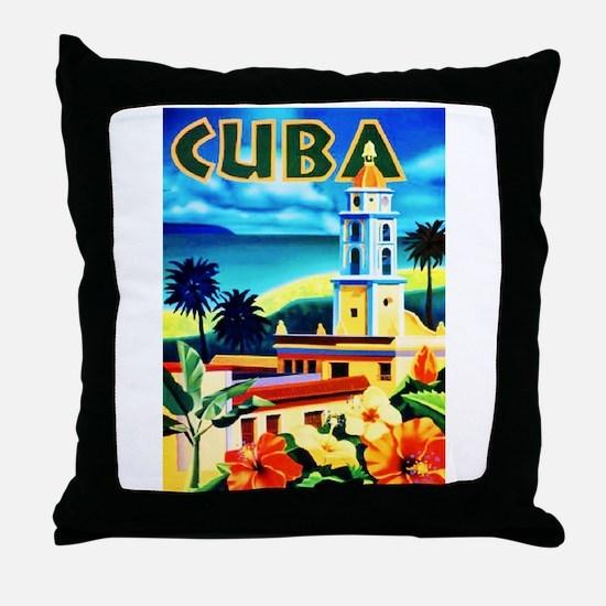 Cuba Travel Poster 6 Throw Pillow