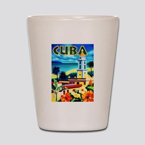 Cuba Travel Poster 6 Shot Glass