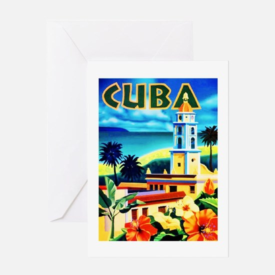 Cuba Travel Poster 6 Greeting Card