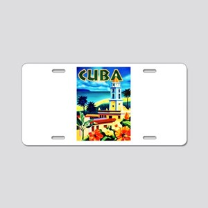 Cuba Travel Poster 6 Aluminum License Plate