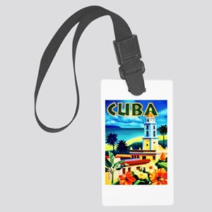 Cuba Travel Poster 6 Large Luggage Tag