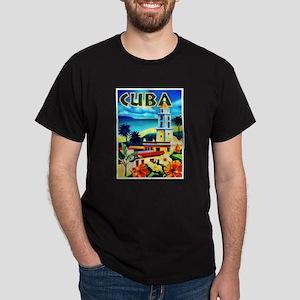 Cuba Travel Poster 6 Dark T-Shirt