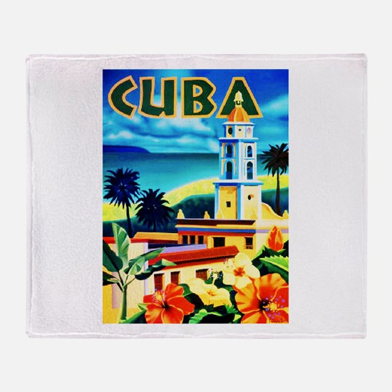 Cuba Travel Poster 6 Throw Blanket