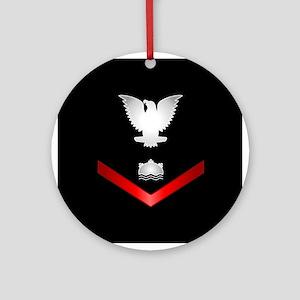 Navy PO3 Mineman Ornament (Round)