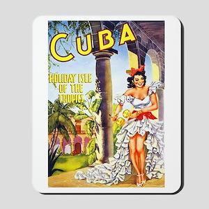 Cuba Travel Poster 1 Mousepad