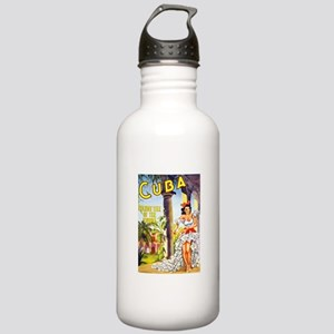 Cuba Travel Poster 1 Stainless Water Bottle 1.0L