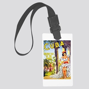 Cuba Travel Poster 1 Large Luggage Tag