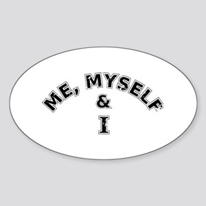 Me Myself And I Typography Sticker