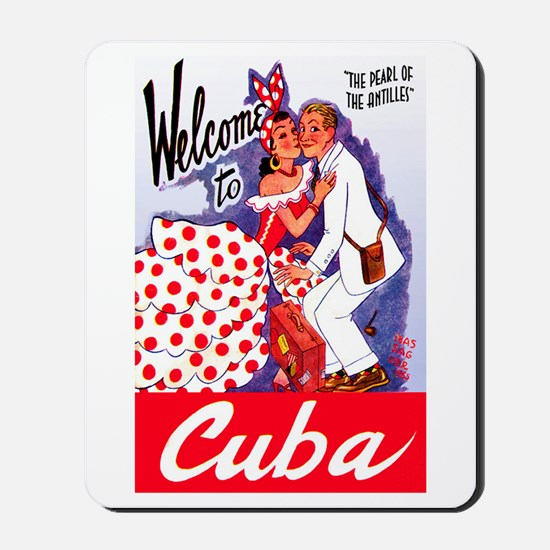 Cuba Travel Poster 5 Mousepad